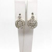 2033. Art Deco Fülbevaló Gyémántokkal