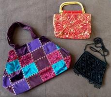 3 darab elegáns női táska, alkalmi retikül