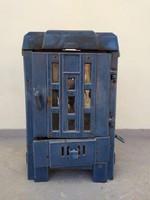 Antik zománcozott art deco bauhaus öntött vas kályha kandalló