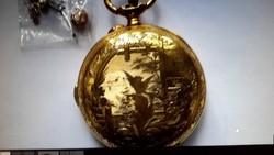 Gyönyörű negyedütős chronograph Rattrapante zsebóra óraszerkezet