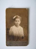 Régi vintage fotó kislány Tóth Károly