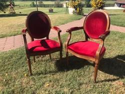 Francia barokk karosszek, fotel