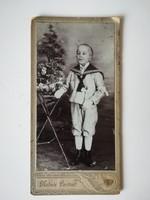 Régi vintage fotó kisfiú Szabó Jakab