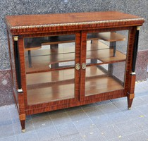 Empire half-height display case with mahogany cover, in room condition