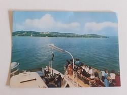 Retro képeslap 1970 Balaton komp hajó