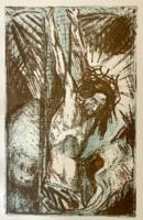 August Brömse - Krucifixus, litográfia (1918)