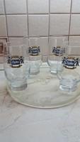 Retro  üveg pohár eladó!Sörös pohár 0.5 l-es 4 db eladó! Zipfer