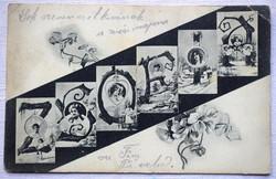 Szecessziós képeslap - ZSÓFIA -  apáca hagyatékából  - 1905