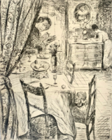 August Brömse - Rat Krespel litográfia (1918)