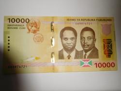 Burundi 10000 francs 2018 UNC A legnagyobb címlet!