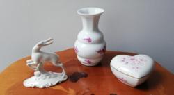 Zsolnay, Royal Dux, német és magyar kézműipari porcelán csecse becse csomag