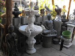 Szép Nagy kerti Szökőkút 150cm  kő szobor műkő csobogó szökő kút
