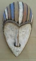 Afrika afrikai antik patinás fa maszk Fang népcsoport Gabon