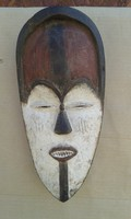 Afrika afrikai antik maszk Vuvi népcsoport Kongo fal 20.