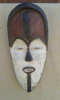 Afrika afrikai antik maszk Vuvi népcsoport Kongo