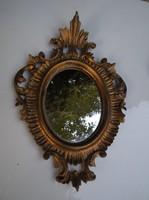 Tükör - Olasz - régi - MŰGYANTA  - 22 x 15 x 13,5 cm - MINŐSÉGI TÜKÖRREL - szép állapot