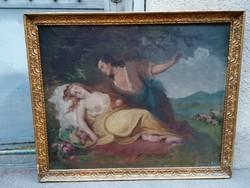 Kazacsay Gerőné, Hirsch Lujza régi jelzett olaj vászon festmény