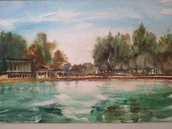 Övöl, akvarell 47x34 jelezve