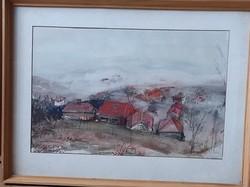 Mecsek, akvarell 33x43 jelezve