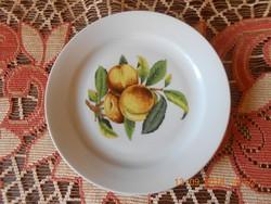 Zsolnay barack mintás süteményes tányér