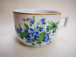 Antik nefelejcses teás csésze