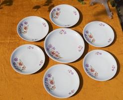 Alföldi porcelán Bella tölcsérvirág virág mintás 6+1 db-os étkészlet süteményes tányérkészlet