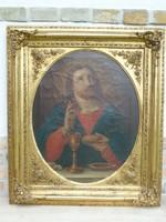 Gyönyörű biedermeier szentkép 1.