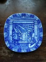 Svéd RÖRSTRAND porcelán fali tányér - gyűjtői darab!