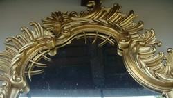 Nagyméretű konzolos barokk felújított laparanyozott tükör