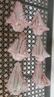 Antik szecessziós kézzel készített pink üveg fodros lámpabura - szecis bura