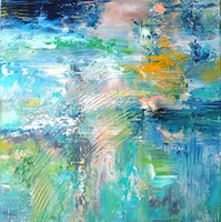 Absztrakt festmény Egyedi, eredeti,kiállítási alkotás!Szignózott,Közvetlen a művésztől!