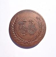 Külföldi jelzett bronz plakett