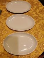 3 db Alföldi porcelán ovális virslis tányér
