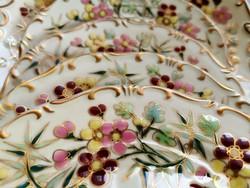 Zsolnay bambusz mintás süteményes készlet