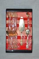 15 darabos jelzett aranyozott desszertes készlet  ( DBZ 0089 )