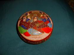 Antik japán SATSUMA porcelán  doboz-kézi festéssel