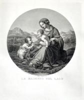 Giuseppe Longhi: Virgin and Child with the infant Saint John the Baptist (1889-ben készített nyomat)
