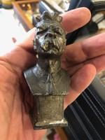 Sztálin fém szobor, 9 cm mgas, ritka ábrázolás..