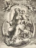 Cherubino Alberti: Madonna a félholdon/ Die Madonna auf der Mondsichel (1889-ben készített nyomat)