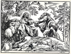 Christoph de Jegher: Christus vom Satan versucht (1889-es nyomat)