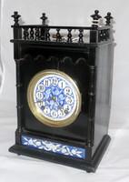 Antik kandalló óra BIG BEN szerkezettel XIX. századi működő fatokos óra