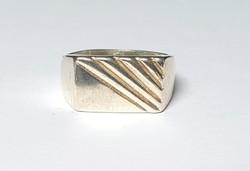 Férfi ezüst sport pecsétgyűrű 58-as méret 5,63 gr