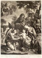 John Smith: A Szent Család / Die Heilige Familie (1889-ben készített nyomat)