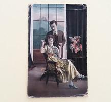 Régi képeslap 1916 szerelmespár
