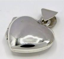 Apró fotótartó nyitható szivecske medál   sterling ezüst /925/  --új