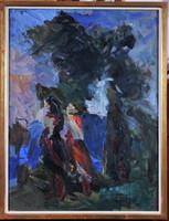 Vilhelm Károly (1943-2011): Sétáló asszonyok