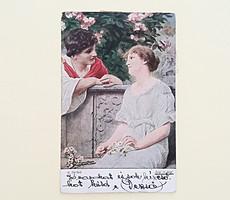 Régi képeslap 1921 A. Seifert szerelmespár levelezőlap