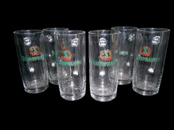 6 db üveg sörös korsó pohár készlet 5 dl-es Staropramen felirattal
