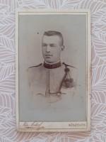 Antik katona fotó Kis Antal Kőszeg műtermi fénykép