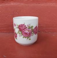 Gyönyörű ritka Zsolnay rózsás mokkás bögre, Gyűjtői darab